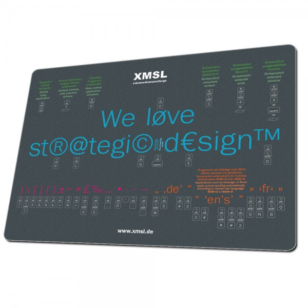 Mousepad im Sonderformat bedruckt Beispiel